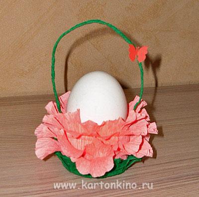 Упаковки и подставки Пасхальные Egg-flower-22