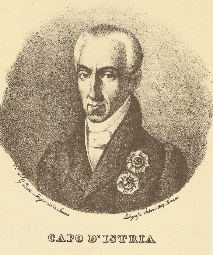 ΙΩΑΝΝΗΣ ΚΑΠΟΔΙΣΤΡΙΑΣ Foscolo-friends-ioannis-kapodistrias-lithografia-salucci-1827-firenze1