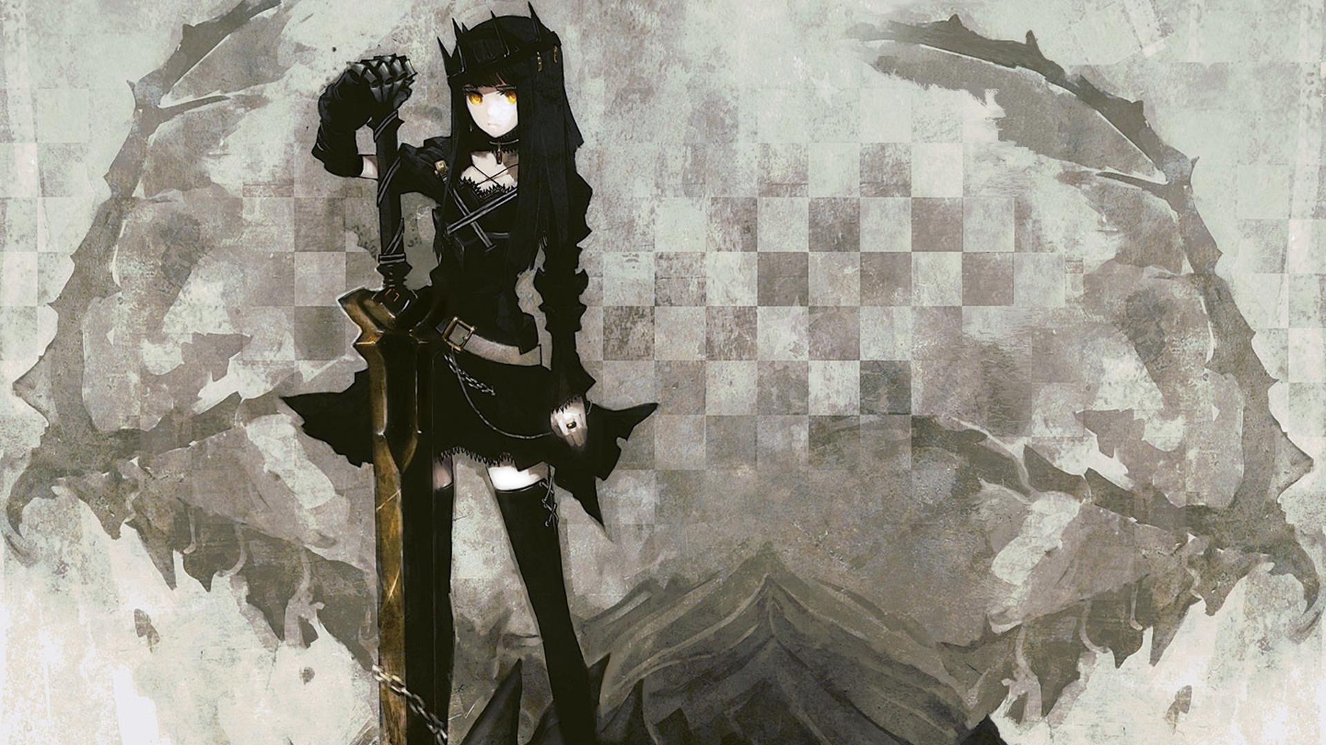 100 Wallpapers de anime HD Konachan-com-77816-black_rock_shooter-dragon_slayer-sword-weapon-yellow_eyes