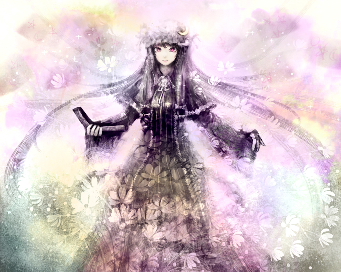 Spam-thread voor goeie fanart Konachan-com-124470-book-hat-long_hair-moekyon-patchouli_knowledge-purple_eyes-purple_hair-touhou