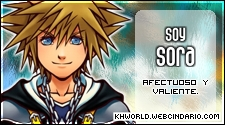 Ke personaje de Kingdom Hearts eres?  <3 Sora