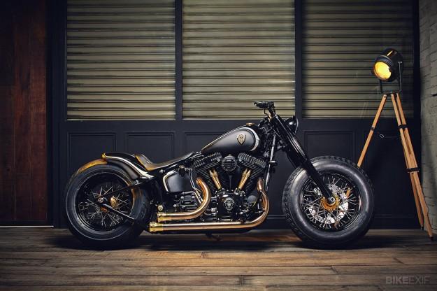 Softail Slim - banque de photos pour inspiration  Harley-softail-slim-625x416