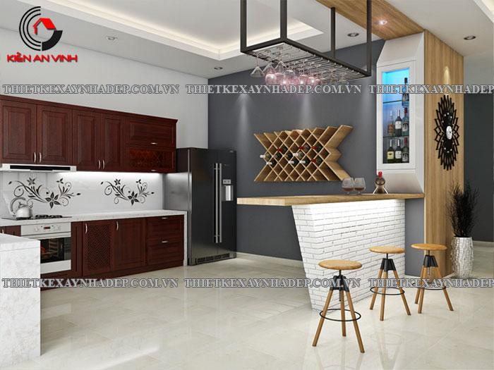Mẫu thiết kế biệt thự 2 tầng Vincom Village đẹp diện tích 150m2 Phong-bep-1