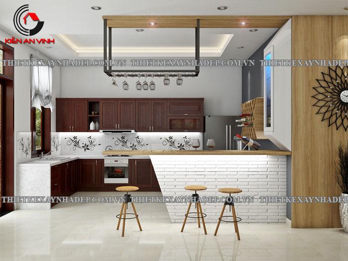 Mẫu thiết kế biệt thự 2 tầng Vincom Village đẹp diện tích 150m2 Phong-bep-2