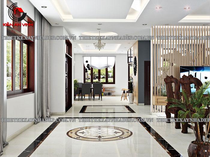 Mẫu thiết kế biệt thự 2 tầng Vincom Village đẹp diện tích 150m2 Phong-khach-2