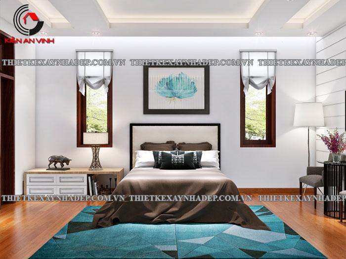 Mẫu thiết kế biệt thự 2 tầng Vincom Village đẹp diện tích 150m2 Phong-ngu-master-1