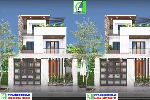 Một số mẫu thiết kế nhà phố đẹp giá rẻ nhất hiện nay K3-600x400