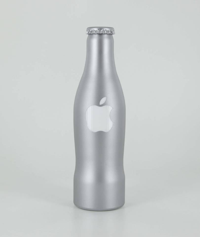 Cadeau bouteille personnalisée  Apple