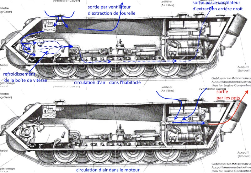 182 King Tiger 2 in 1 - TRUMPETER 00910 - 1/16ème - Page 6 Circulation-d-air