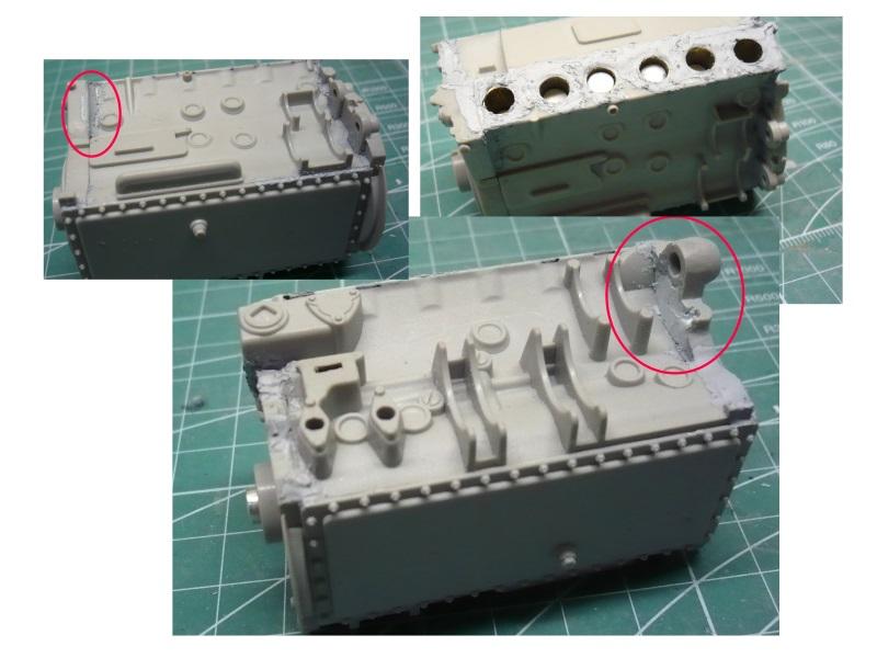 182 King Tiger 2 in 1 - TRUMPETER 00910 - 1/16ème - Page 5 Mastique-moteur