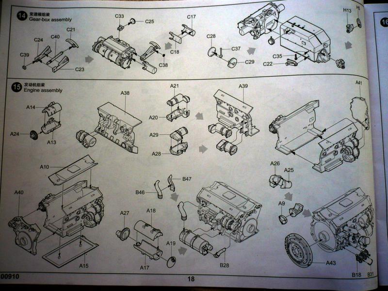 182 King Tiger 2 in 1 - TRUMPETER 00910 - 1/16ème - Page 5 Plan-moteur-4-