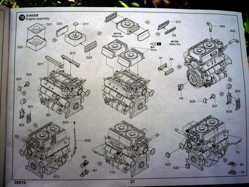 182 King Tiger 2 in 1 - TRUMPETER 00910 - 1/16ème - Page 5 Plan-moteur