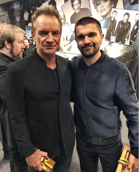 ¿Cuánto mide Sting? - Altura - Real height Juanes-con-Sting