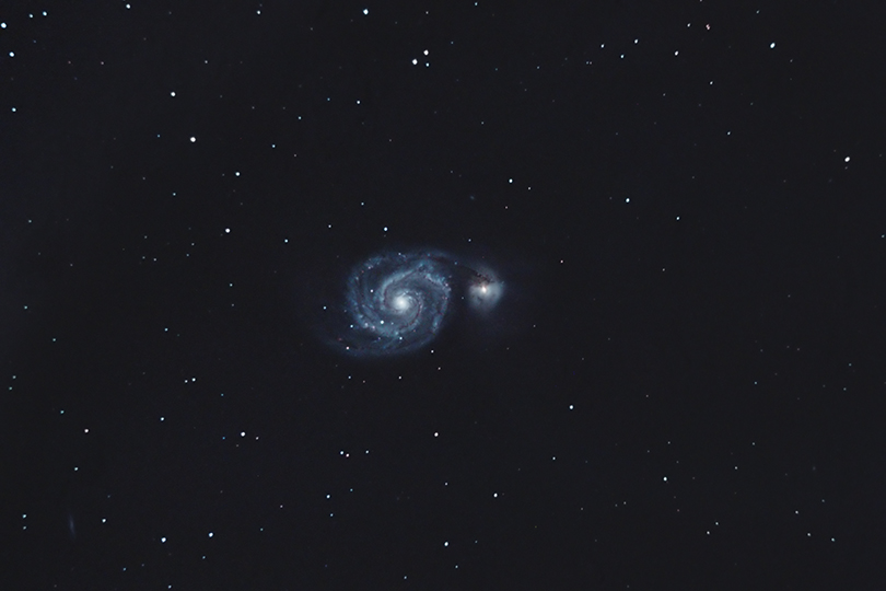 Moisson de Galaxies en milieu hostile M51KiteGuy0203Avril2012V540p