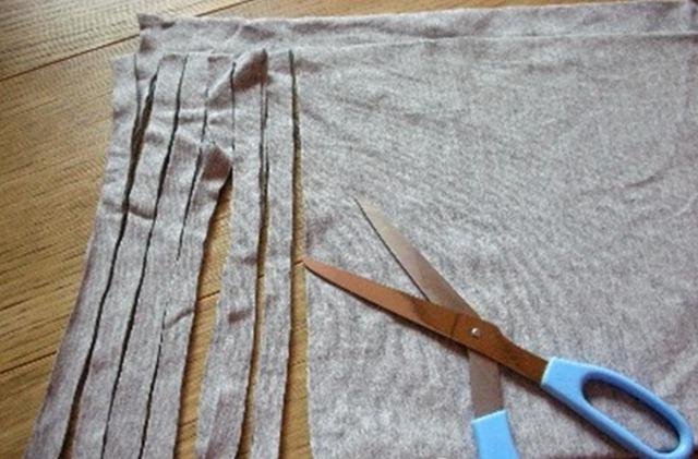 Как сделать пряжу из трикотажной футболки Tayra20100630_072743