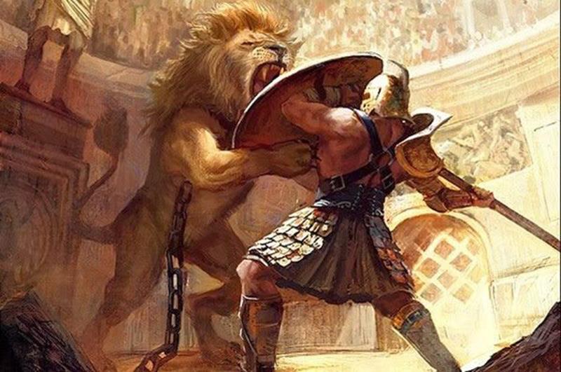 Batalla en el coliseo Bestiarii
