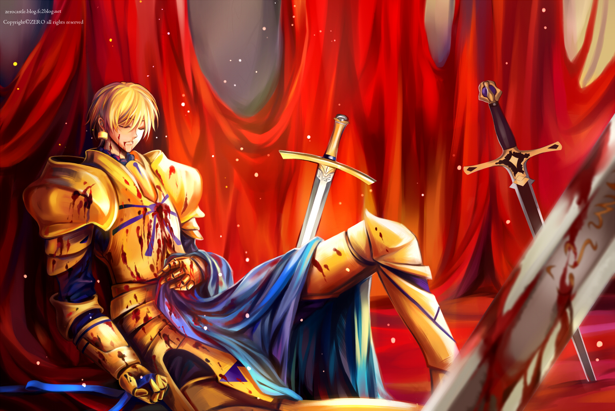 The better for dignity Konachan.com%20-%20118866%20armor%20blonde_hair%20blood%20fate_stay_night%20gilgamesh%20short_hair%20watermark%20weapon