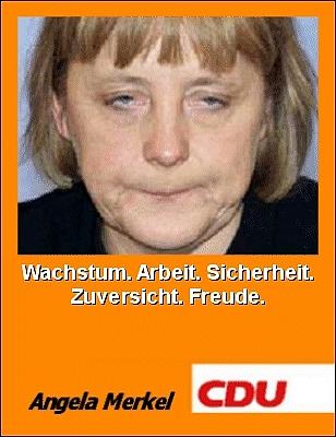 5. Spieltag: Borussia bei den Stehaufmännchen vom Kölner Dom Merkel-plakat