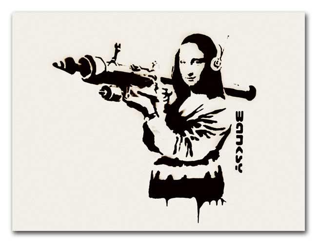 Jogo da Imagem do Google - Página 5 Banksy-mona-lisa-rocket-launcher-1