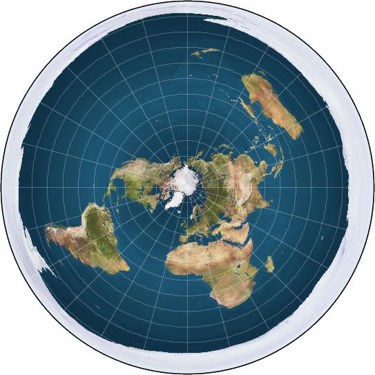 Ljudi žele reality show u kojem ravnozemljaši traže rub Zemlje Ravna-Zemlja-Wikimedia-Commons