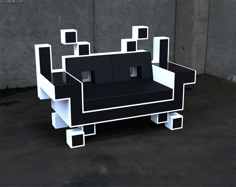 L'univers des Geeks - Page 4 Space_invaders_sofa