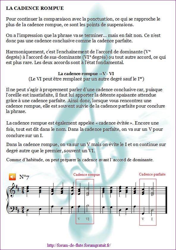 1°) Cadences Cadence7