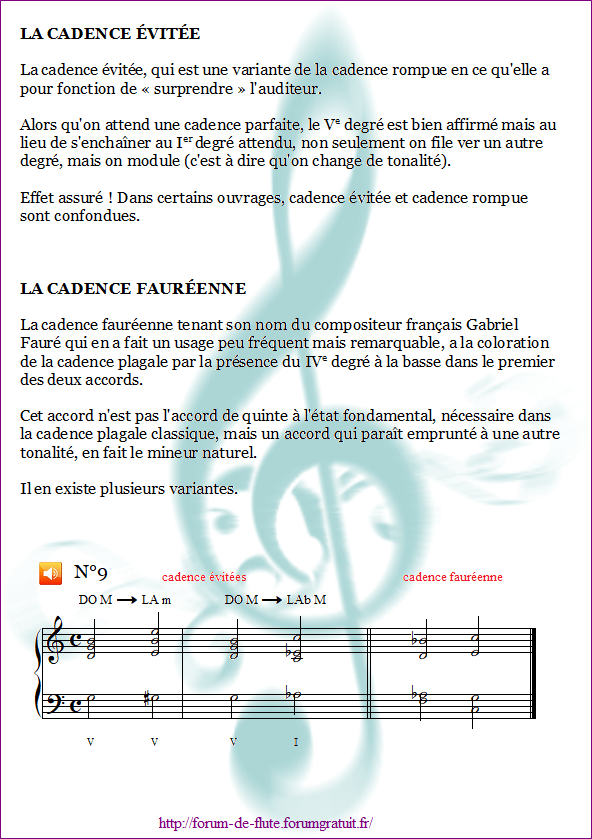 1°) Cadences Cadence9