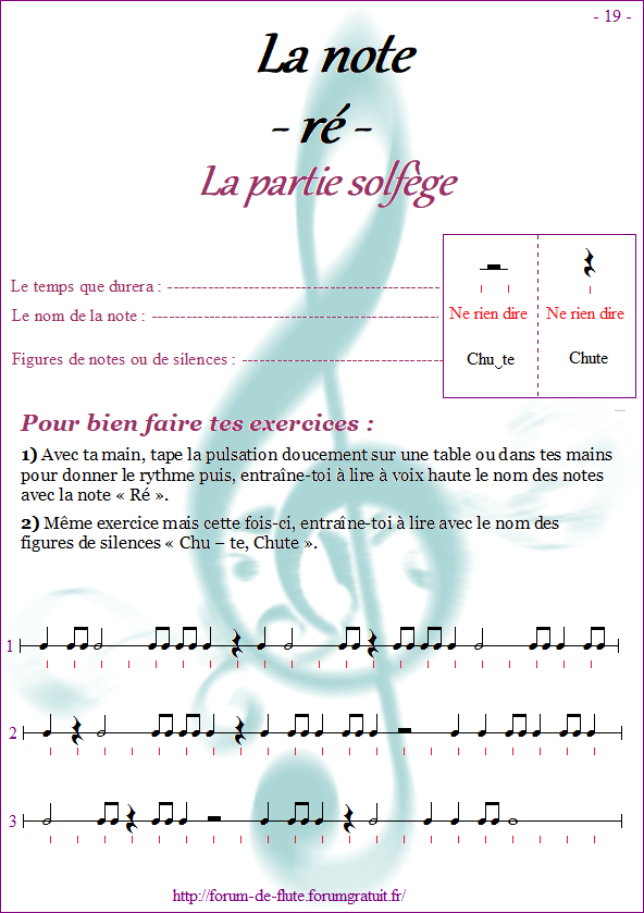 Module 1 : Mi, Ré, Do - Page 16 à 24 Methode-flute-a-bec-alto_page-19-note_re