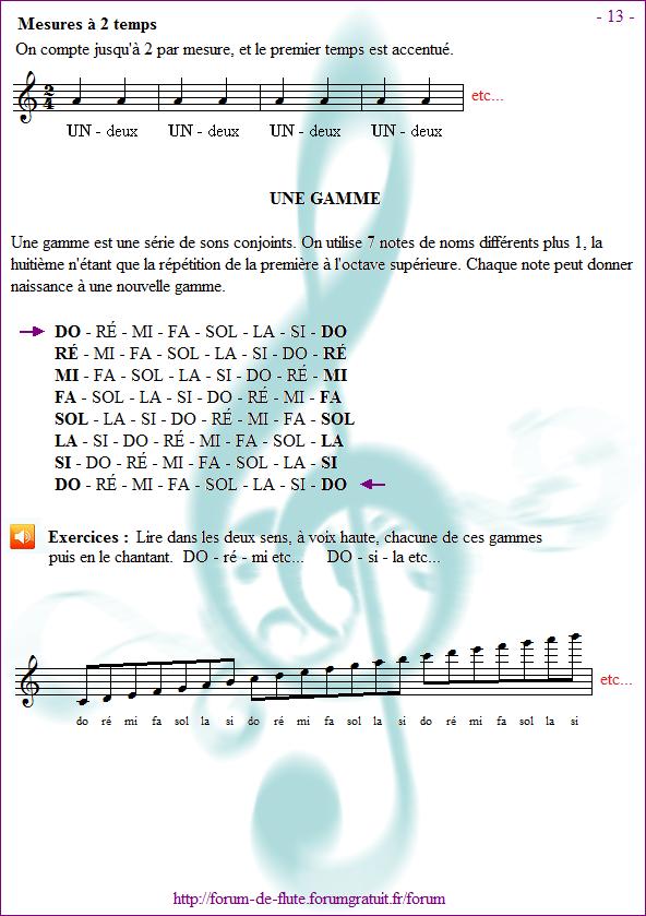 Avant de commencer - Page 1 à 15 Methode-flute-a-bec_page-13_Une-gamme