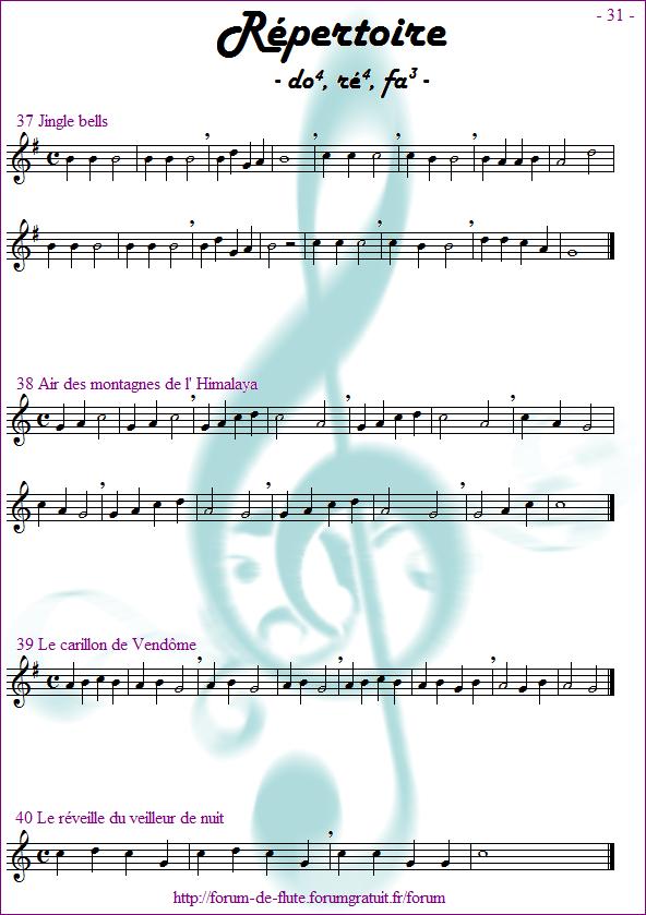 Module 2 : Do aigu, Ré aigu, Fa grave - Page 25 à 32 Methode-flute-a-bec_page-31_Repertoire-do-re-fa