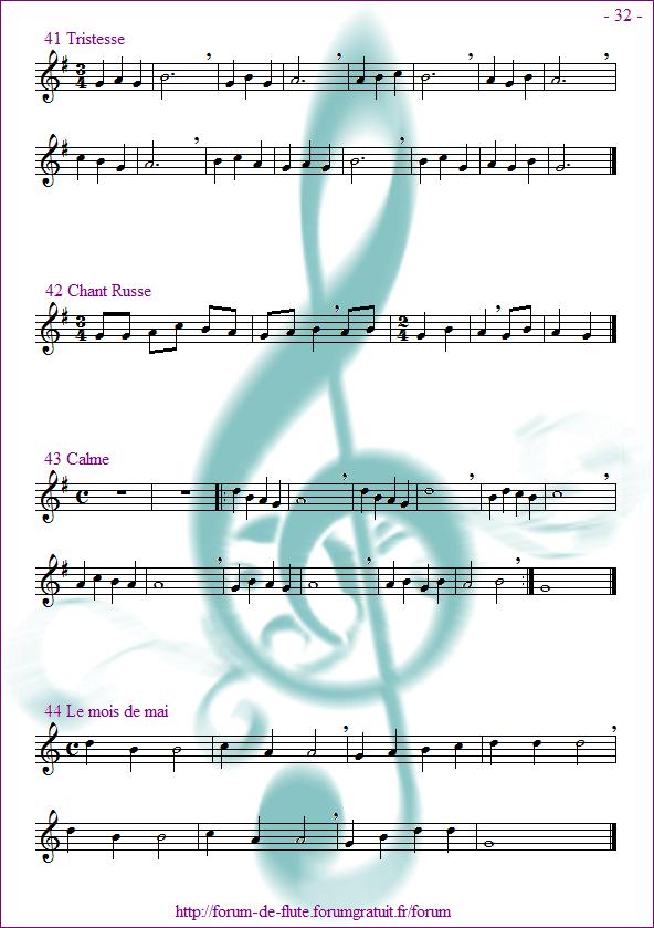 Module 2 : Do aigu, Ré aigu, Fa grave - Page 25 à 32 Methode-flute-a-bec_page-32_Repertoire-si-la-sol