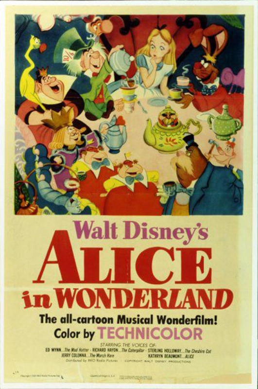 Affichons les affiches - Page 11 1951-Alice-in-Wonderland-Poster-531x800