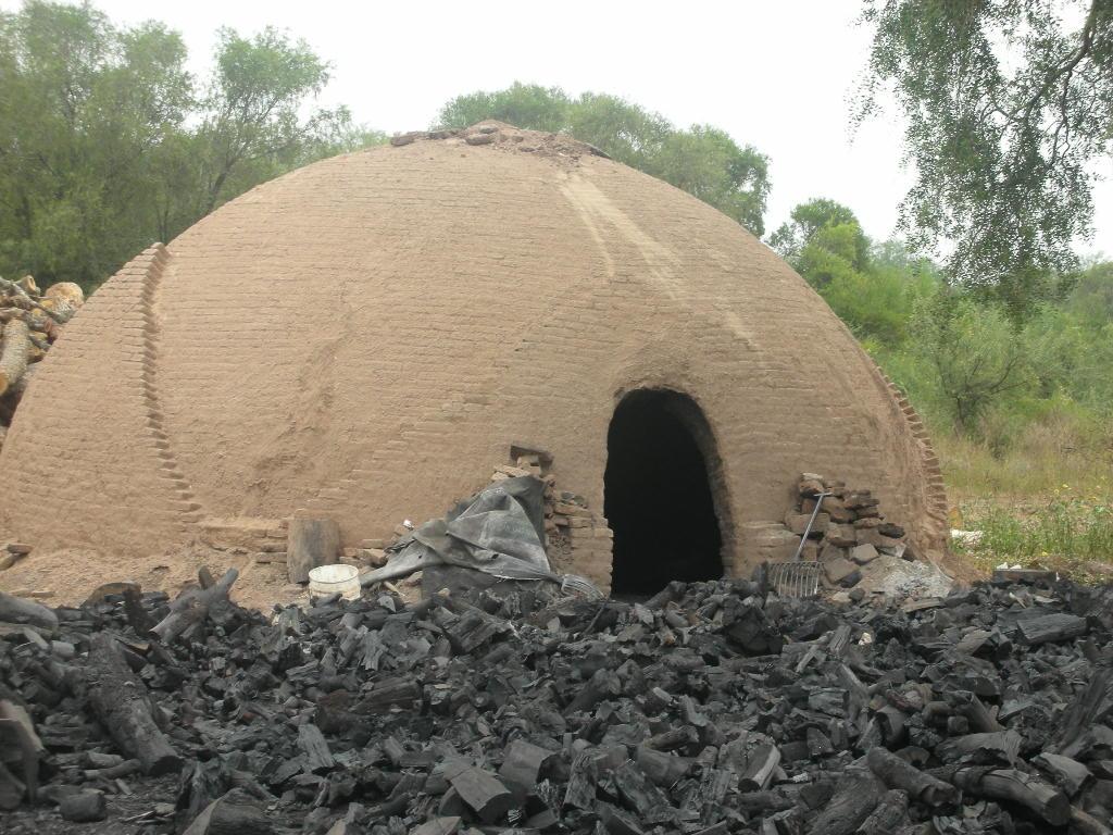 Carbon hecho en casa Horno-de-carbon