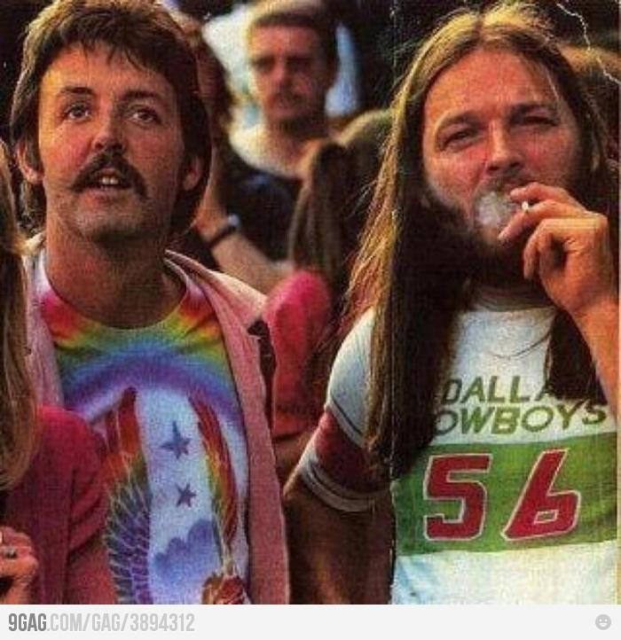 Tus fotos favoritas de los dioses del rock, o algo - Página 4 Paul-mccartney-and-david-gilmour-on-a-led-zeppelin-show
