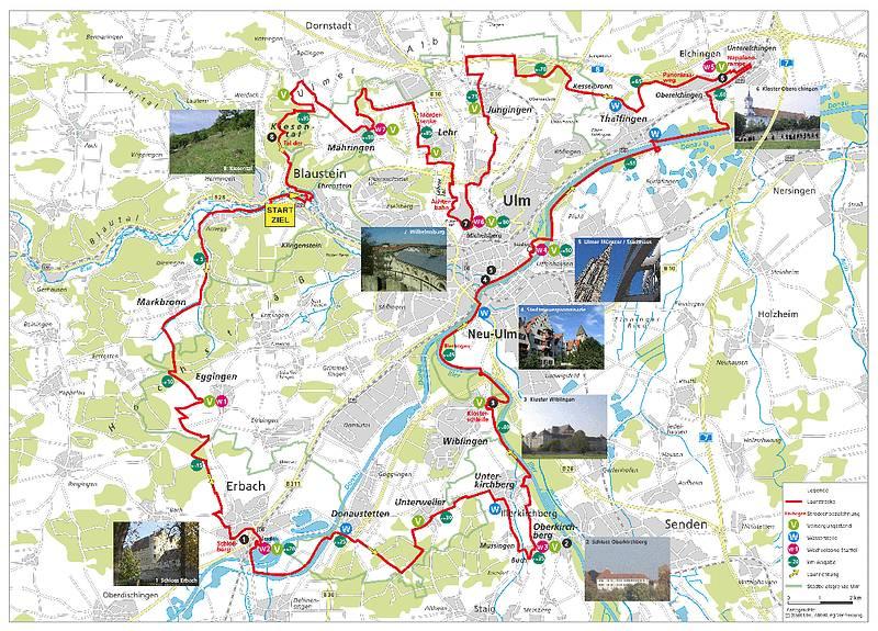 "100km  d'ULM (D) (ou 50km) ""Ulmer Laufnacht"": 22-23/06/2012 Ulm-strecke"