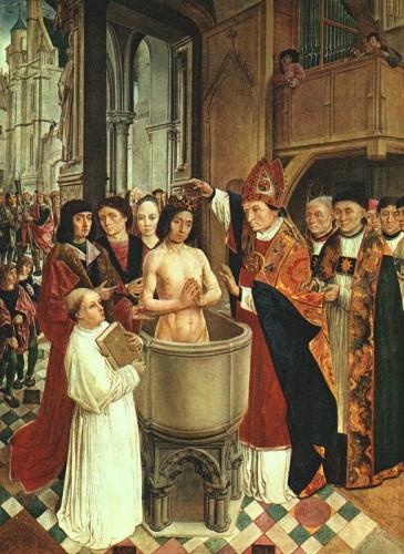 Ephéméride du 25 décembre - 496 : Baptême de Clovis à Reims avec son baptême commence la grande aventure de la construction de la FRANCE chrétienne 639541193