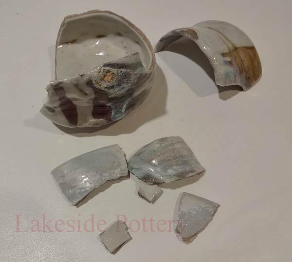 Cracked pot...repair or discard? Woodfired-kintsugi-teabowl-broken