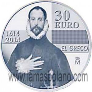 MONEDA ESPAÑA 2014 - IV CENTENARIO DE EL GRECO - 30 EUROS PLATA Moneda-espana-2014-iv-centenario-de-el-greco-30-euros-plata