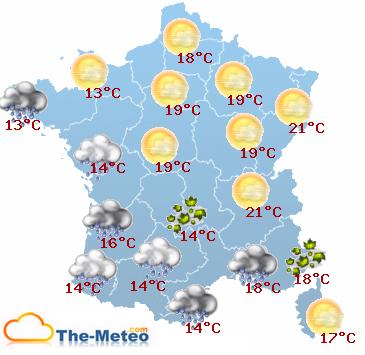 Météo France pour demain avec Meteo-des-vacances.com