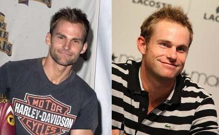 Parecidos a tenistas Sean-william-scott-y-andy-roddick