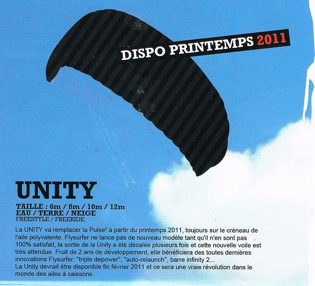 Nouveau: la flysurfer UNITY Unity