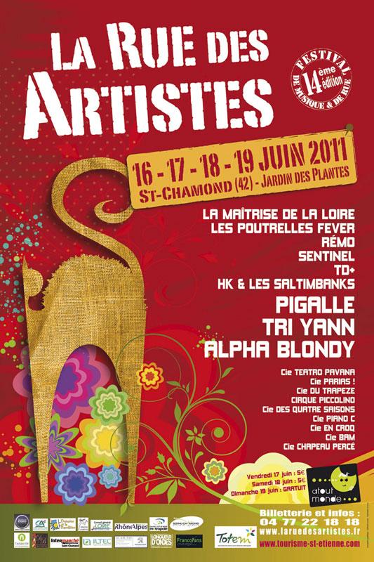 Rue des Artistes 2011 : Alpha Blondy, Tri Yann, Pigalle... Rda2011-web