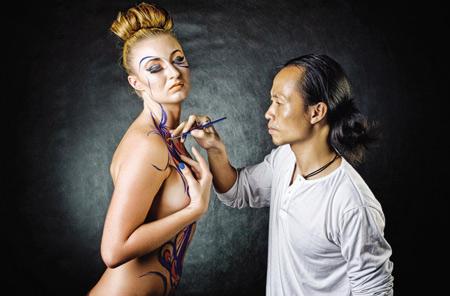 Album ảnh nghệ thuật body painting tuyển chọn. Cfbce_vtc-305128-nude1