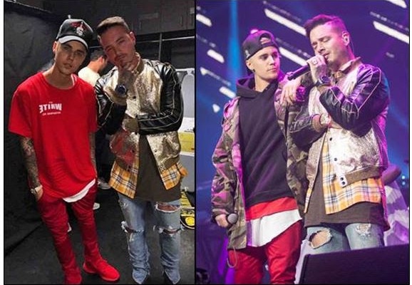 ¿Cuánto mide Justin Bieber? - Altura: 1,73 - Real height - Página 4 Balvinybieber-578x400