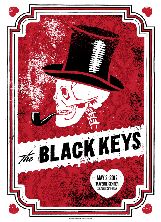 Los posters de los conciertos  Blackkeysbyliltuffy