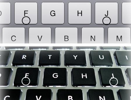 ¿Sabes para qué sirven las marcas que hay en las teclas F y J del teclado? Aquí tienes la respuesta Teclados-2-3