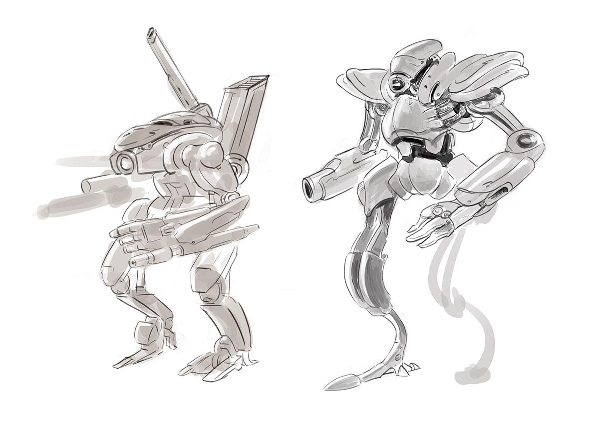 CH4 - Illustration - Combattant au corps à corps Planche