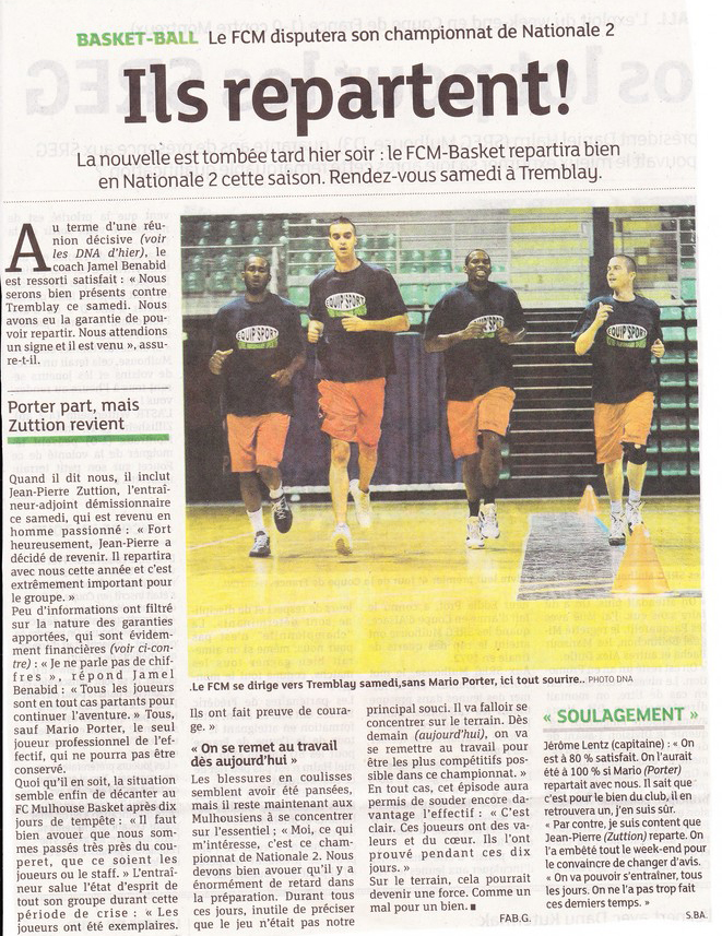 La saison 2012/2013 est enfin lancée ! KOP 2001 + JOUEURS DONT MARIO, l'UNION SACREE !!! 120918-DN1