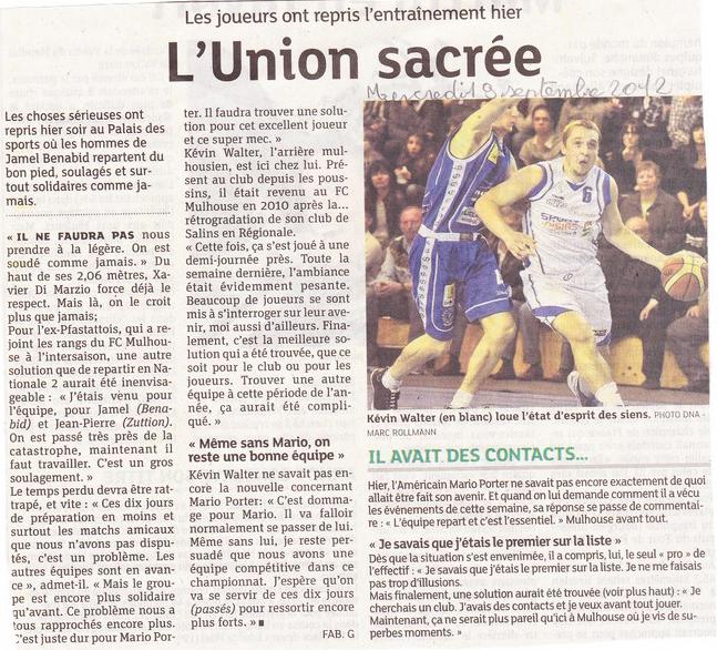 La saison 2012/2013 est enfin lancée ! KOP 2001 + JOUEURS DONT MARIO, l'UNION SACREE !!! 120919-DN2