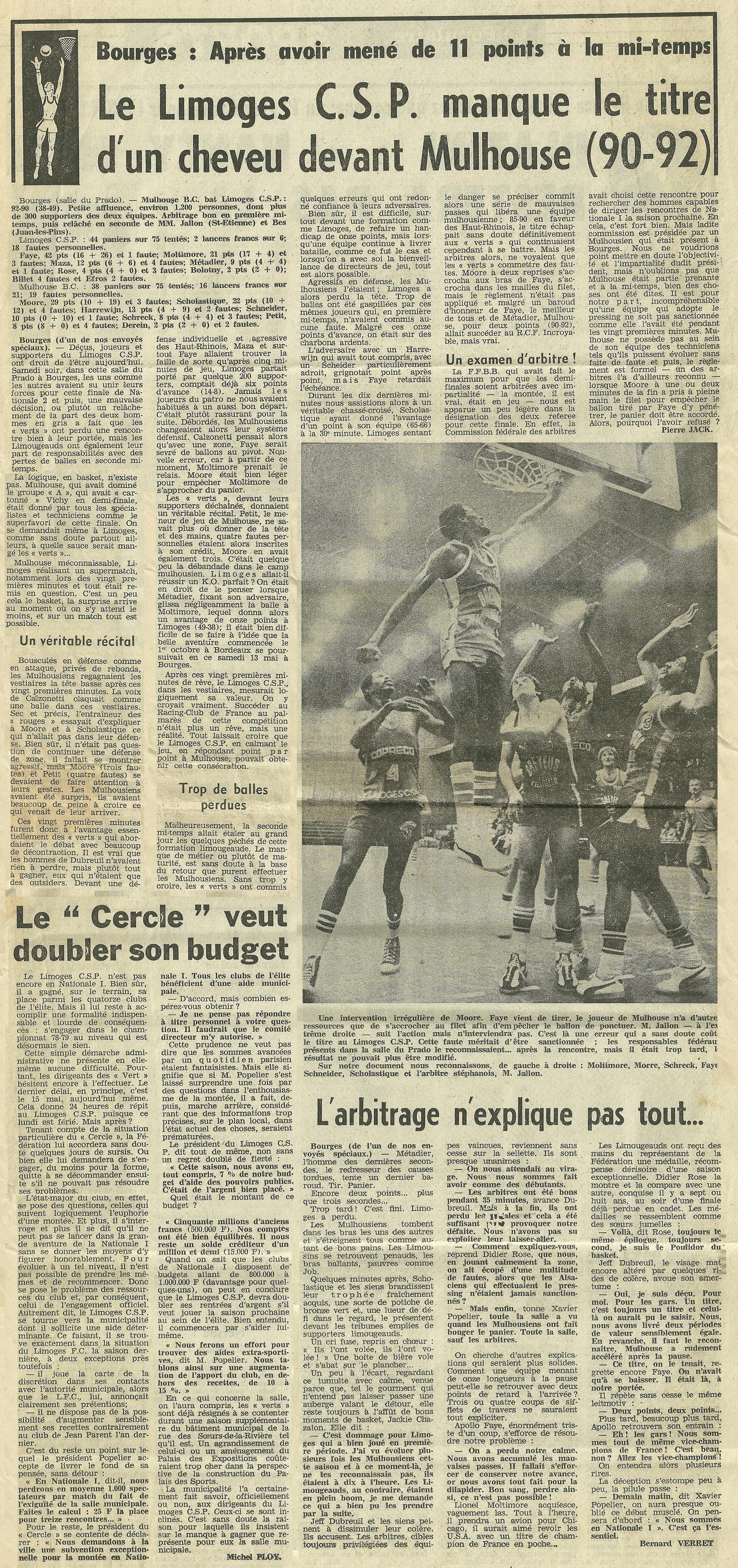 Saison 1977/1978 - N2 (Pro B) 1978-2